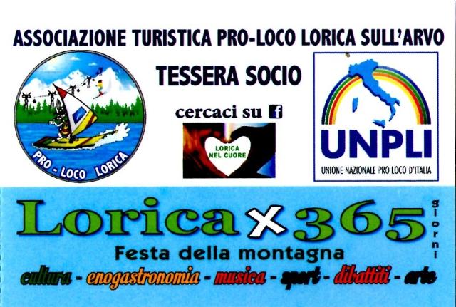 Tessera-Socio-Pro-Loco Lorica